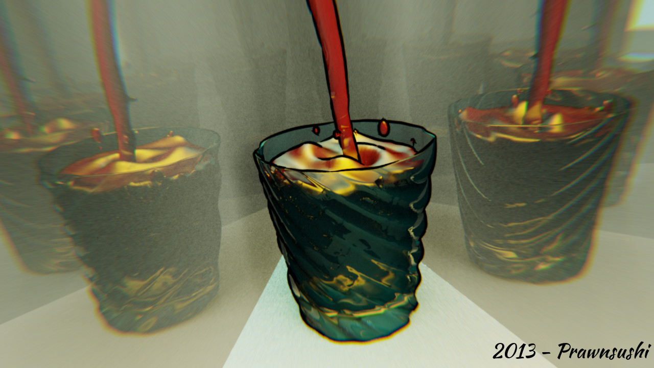 2013 - A Glass (Blender freestyle)